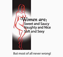 Women Are Never Wrong Women's Fitted Scoop T-Shirt