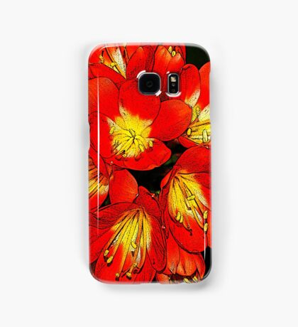 Summer flowers digital art Samsung Galaxy Case/Skin