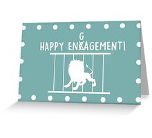 Happy Encagement with dots Greeting Card
