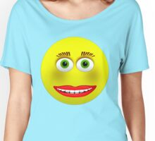 Smiley Green Eyes Makeup Women's Relaxed Fit T-Shirt