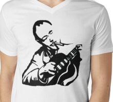 Django Reinhardt Gypsy Jazz Guitarist T-Shirt Mens V-Neck T-Shirt
