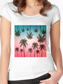 palm tree  Women's Fitted Scoop T-Shirt