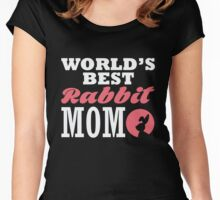 World's best rabbit mom Women's Fitted Scoop T-Shirt