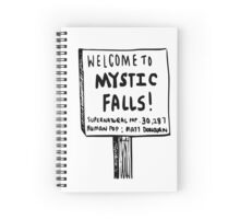 The vampire diaries-Mystic Falls Spiral Notebook