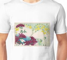 Early Summer Flower Blossoms - anon - 1900 - woodcut Unisex T-Shirt