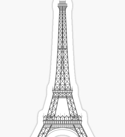 Eiffel Tower Paris Illustration Sticker