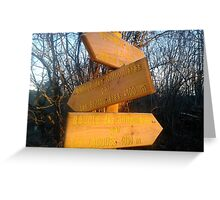 Signpost pointing the way Greeting Card