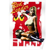 Red Leader Aircraft Pin Up Girl Poster