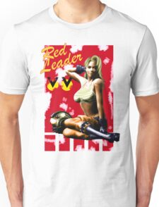Red Leader Aircraft Pin Up Girl Unisex T-Shirt