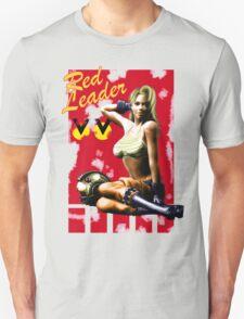 Red Leader Aircraft Pin Up Girl T-Shirt