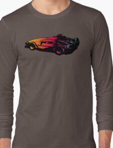 Back to the future Delorean Long Sleeve T-Shirt