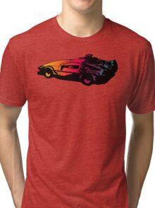 Back to the future Delorean Tri-blend T-Shirt