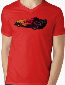 Back to the future Delorean Mens V-Neck T-Shirt