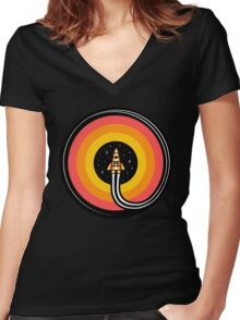 Into The Outer Women's Fitted V-Neck T-Shirt