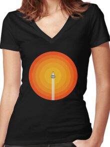 Cruising Past The Sun Women's Fitted V-Neck T-Shirt