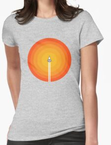 Cruising Past The Sun Womens Fitted T-Shirt