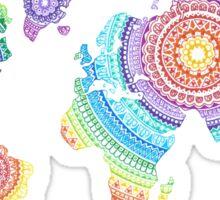 World Map Mandala Sticker