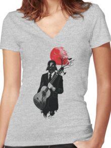 DARTH VADER GUITARIST Women's Fitted V-Neck T-Shirt