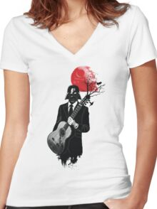 DARTH VADER GUITARIST Women's Fitted V-Neck T-Shirt