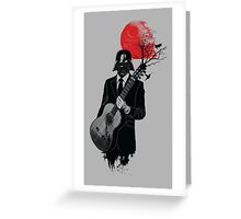 DARTH VADER GUITARIST Greeting Card