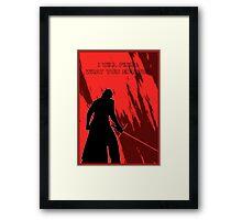 star wars - kylo ren Framed Print