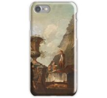 GIOVANNI PAOLO PANINI CIRCLE OF, CARPRICCO WITH FIGURES iPhone Case/Skin