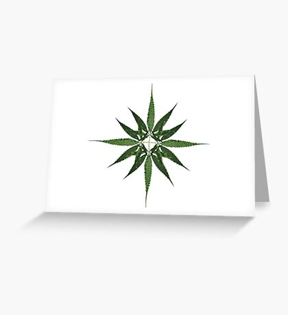 Cannabis leaves multiply Greeting Card
