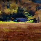 Watercolor Barn Southwest Wisconsin by Thomas Young