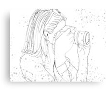 Camera Girl Canvas Print