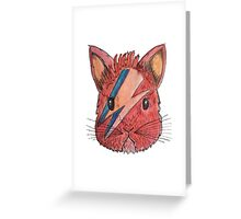 BOWIE BUNNY  Greeting Card