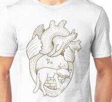Vintage Tattoo - Cat Heart Unisex T-Shirt