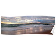 Stormy Sunset Seascape Panorama Poster