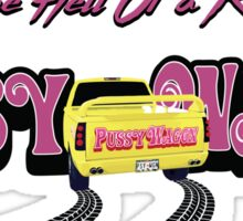 Pussy Wagon Ride Sticker