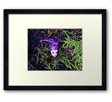 Purple Haired Decapitated Doll  Framed Print