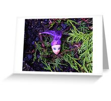 Purple Haired Decapitated Doll  Greeting Card