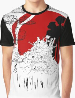 Janapese Castle Graphic T-Shirt
