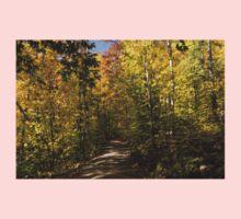 Sun Dappled Autumn Path - Enjoying a Sunny Forest Walk One Piece - Long Sleeve