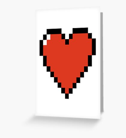 Pixelated HEART - Classic & Retro Greeting Card