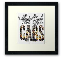 Place - NY Cabs Framed Print
