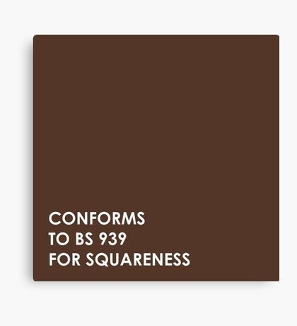Brown Square  Canvas Print