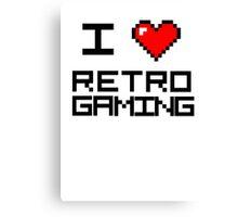 I <3 Retro Gaming Canvas Print