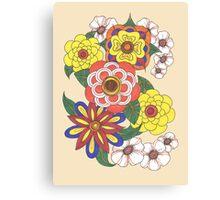 Retro Flowers Canvas Print