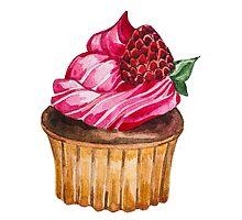 Watercolor Cupcake by LidiaP