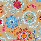Brown Sugar Suzani Inspired Pattern by micklyn