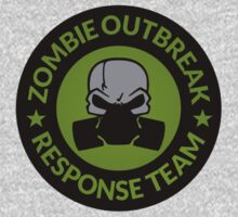 Zombie Response Team (Gas Mask / Circle / Green) by Robert Partridge