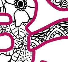 om symbol- pink Sticker
