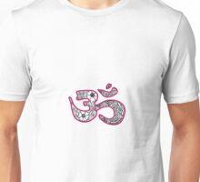 om symbol- pink Unisex T-Shirt