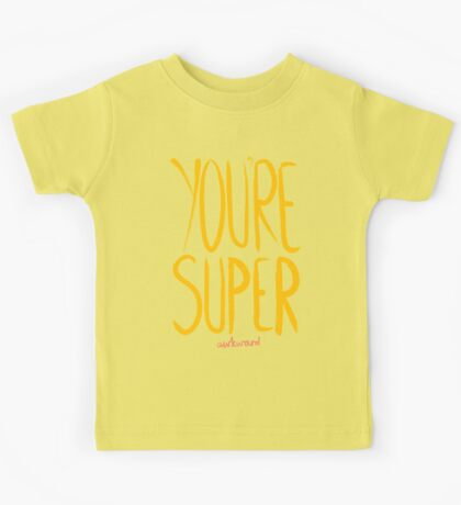 Love Me, Love Me Not: You're Super...Awkward Kids Tee