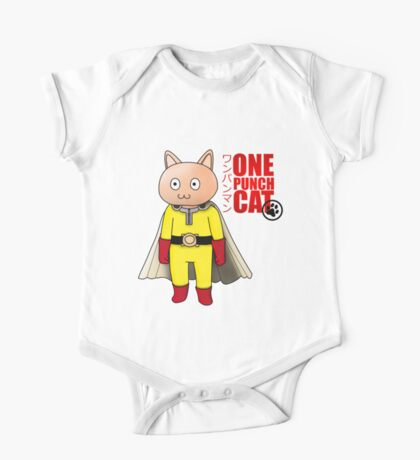 One Punch-Cat One Piece - Short Sleeve