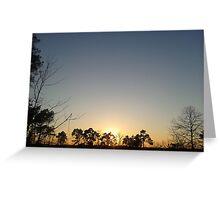 The setting sun Greeting Card
